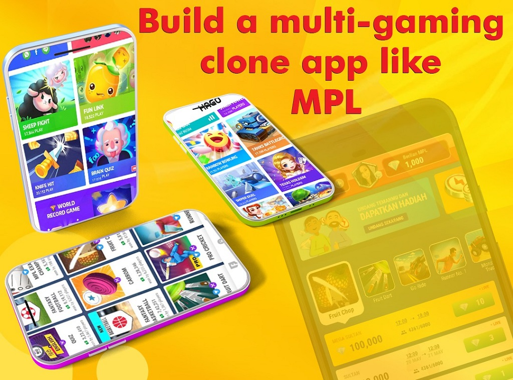multi-gaming clone app like MPL